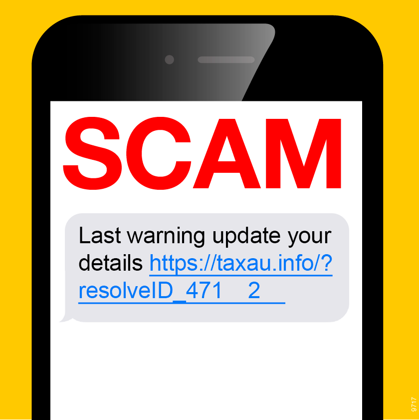 Image of a scam text message, which says